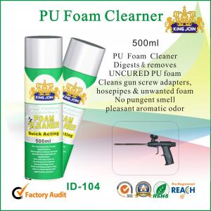 China Waterproof 500ml Polyurethane Foam Cleaner Aromatic Odor For Car Windscreen on sale