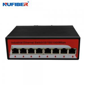 China 1000M Industrial Ethernet switch 8 Rj45 UTP port with Din-rail wall mount on sale