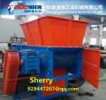 Famous brand PIPE RUBBER single shaft shredder machine PET BOTTLE CRUSHER PE PP film crusher shreeder machinery