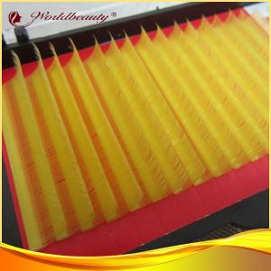 China Yellow Individual Luxury Mink Eyelashes Extensions C Curl For Lady on sale