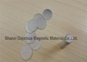 China N35 Ndfeb Rare Earth Permanent Round Neodymium Disc Magnets , small super strong magnets on sale
