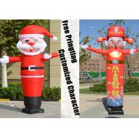 China Desktop Blower Inflatable Tube Man Father Christmas shape Height 3m on sale