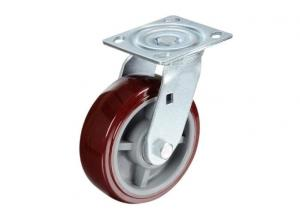 China Heavy Duty Swivel Plate Caster 4 / 5 / 6 / 8 Size Customized Finish        wheels for furniture legs on sale