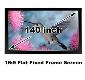 China Clear Picture HD Projector Screen 140 Inch Flat Fixed Frame 3D Projection Screens 16:9 on sale