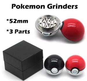 China Pokemon Grinder for Spices, Herbs, Tobacco. 55mm 2.2inch Aluminum very hot salrs Pokeball grinder Pokemon Herb Grinder on sale