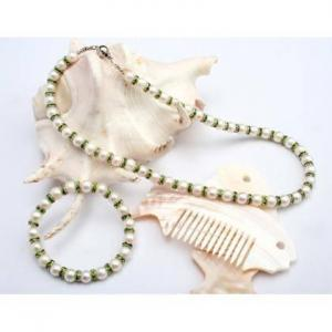 China freshwater pearl gemstone jewelry set,fashion pearls,fashion jewelry set on sale