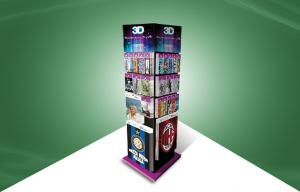 China Four Face Show Cardboard Display Stands , Floor Standing Display Units To 3d Poster Cards on sale