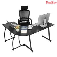 Custom Modern Executive Office Furniture , L Shape Corner Contemporary Office Table