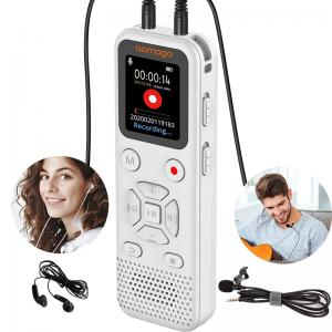 China Voice Activated Recorder Mini Spy Dictaphone 16GB Memory Digital Voice Recorder on sale