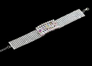 China Women's Charming And Shiny Rhinestone Bracelet With Crystal For Anniversary& Party BLN0031 on sale