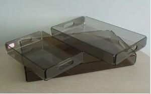 China Custom Size Acrylic Room Service Tray on sale