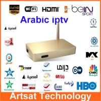Arabic ITPV BOX Arabic Android Smart TV box Qnet IPTV Quad Core Support 400+ Arabic Channels (Bein sports / OSN / Sky )