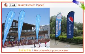 China Portable Custom Teardrop Flags Flying Banners For Indoor / Outdoor Decoration on sale