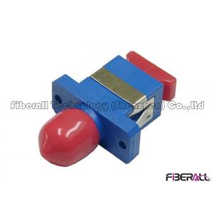 China Durable Plastic Hybrid Fiber Optic Adapter For SC To FC Conversion With Flange on sale