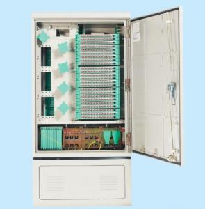 China 288 CORES Outdoor Fiber Cabinet Flame - Retardant Material IP65 Protection Grade For Network on sale
