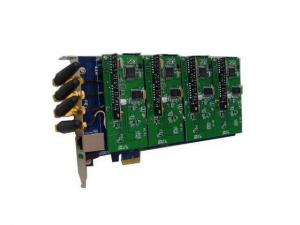China GSM400E Asterisk Card PCI Express Card with 4 GSM Modules on sale