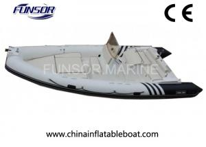 Motorized V Shaped Hard Bottom Inflatable Boats 12 Person With Ce