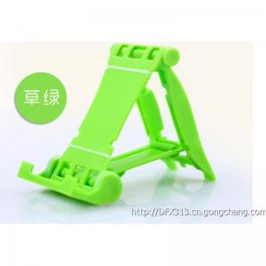 China Green Desktop Silicone Mobile Phone Stand Metal Snap for Smartphone Tablet PC on sale