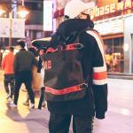 Backpack female Korean version of tide 2018 new stylish men's fashion large-capacity travel campus bag backpack