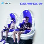 Indoor / Outdoor Business 9D Egg Chair VR Flying Simulator Blue + White Color