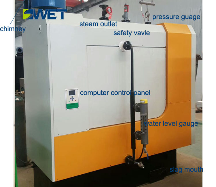Low Pressure Industrial Biomass Steam Boiler High Efficiency Custom ...