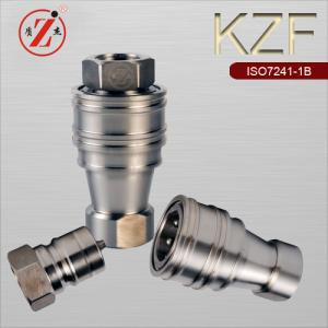 China KZF ISO B stainless steel hydraulic quick release coupling on sale