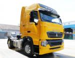 Yellow Color Sinotruk 4x2 Howo Tractor Truck 290hp Euro II Emission Standard