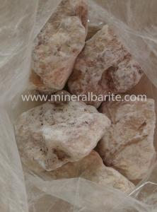 China BaSO4 / SrSO4 95% Barite Minerals Ore For Barium Compounds on sale