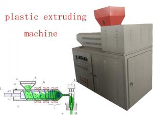 China Pvc Extruder Machine , Frequency Speed Adjust Plastics Extrusion Machinery on sale