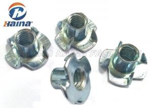 Plain Finish Zinc Plated Tee Stainless Steel Nuts Four Claws Nut