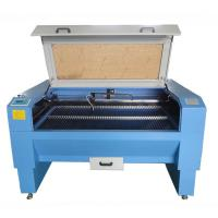 High Efficiency Laser Leather Cutting Machine Blue Color With Double - Laser Cutting