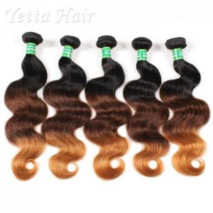 China Real Indian 7A  Virgin Hair Weave / Three Tone  Hair Extensions Without Chemical on sale
