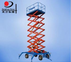 China Easy control four wheels mobile hydraulic scissor lift platform on sale