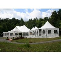 Festivals Exhibitions Steel Pagoda Party Tent 8 * 8M UV Protection With PVC Wall