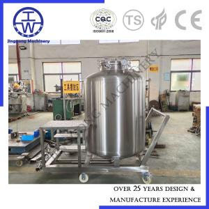 China 304 316 Stainless Steel Liquid Storage Containers Vessel With Cart Platform CIP Rotation Ball on sale
