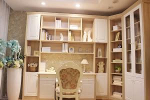 ... Quality Study Table Home Office Bookcases , Corner Wall Book Shelf MDF  Board For Sale ...