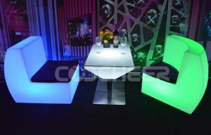 China Color Changing Portable Led Plastic Furniture Led Coffee Table on sale