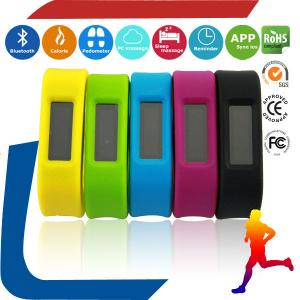 China Colorful silicone band watch pedometer  Screen display OLED Pedometer Wristband Bluetooth on sale