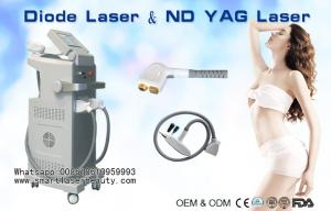 China 808nm Diode Laser Hair Removal Machine / 1064nm ND YAG Laser Tattoo Removal on sale