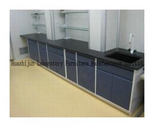 China Stable Working Adjustable Lab Bench , Industrial Work Table With Reagent Shelf on sale