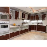 China High Gloss Lacquer MDF Kitchen Cabinets Blum / Dtc Hardware With Countertop Sink / Faucet on sale