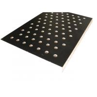 Eco Friendly Perforated Wood Acoustic Panels Polyester Fabric Fiber PET Acoustic Panels