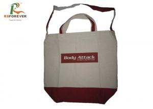 China 100 Organic Cotton Canvas Bags Heavy Duty For Shopping Silk Sceen Printing on sale