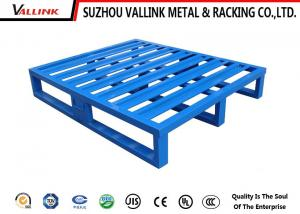 China Blue Steel Heavy Loads Standard Euro Pallet Lots With Powder Coating Finish on sale