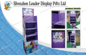 China Customized 4C Perfume Lightweight Cardboard Display Shelf With Glossy Lamination on sale