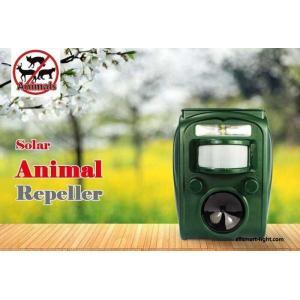 China Graden ultrasonic solar animal repeller ASF-006 dog cat deer repeller by ultrasonic signal and flashing  frighten animal on sale