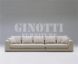 Quality 居間の純木が付いている角の生地のソファー、構造およびステンレス鋼 for sale