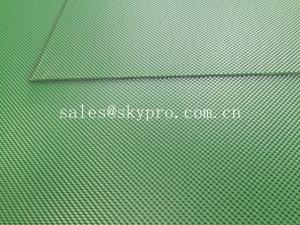 China Green color diamond PVC conveyor belt glossy matt smooth grip top on sale