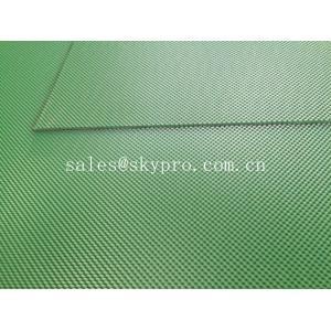 China Green color diamond PVC conveyor belt glossy matt smooth grip top on sale