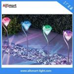 low voltage colorful Villa garden staircase solar led diamond lights